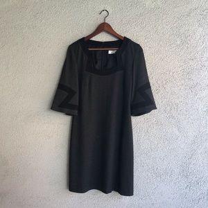 TRINA TURK Los Angeles   Gray & Black Shift Dress